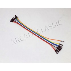 10x Pinheader cable 20cm 2.54