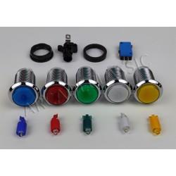 LED pushbutton chrome